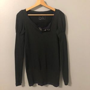 We the Free Dark Gray Long Sleeved Tunic  Size SP